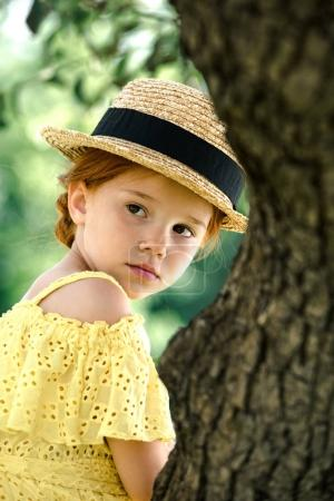 beautiful girl in straw hat