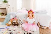 little girl with mascara