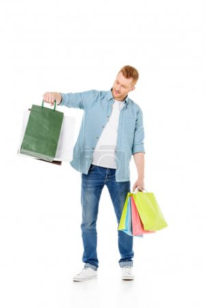 young man with shopping bags
