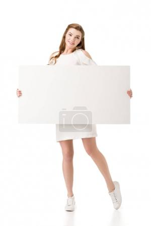 girl with placard
