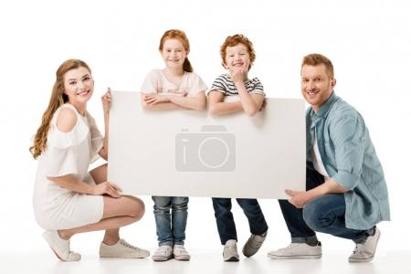 family with placard