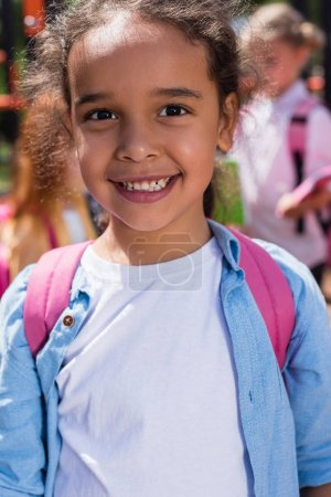 happy african american schoolchild