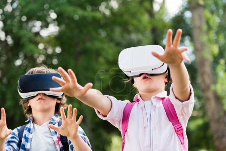 kids with vr headsets