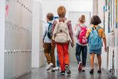 kids going in class