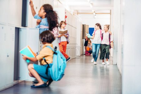Kids in school corridor