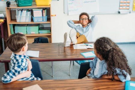 relaxed kids in class