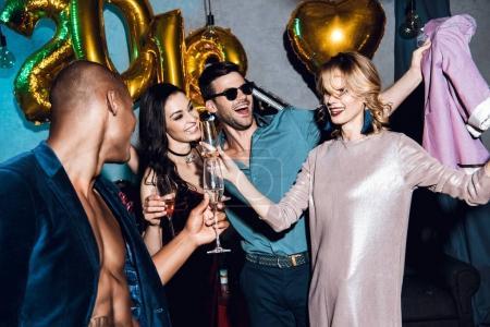 friends celebrating new year