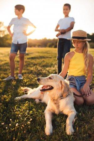 teenager with dog