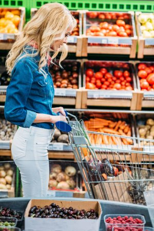 woman in grocery shop