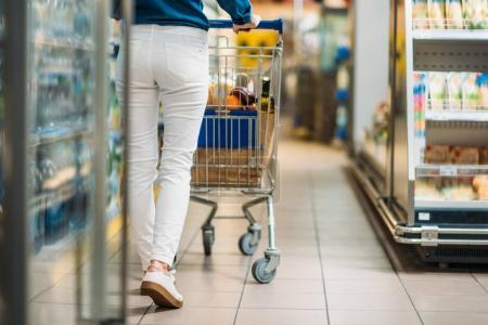 woman in shopping supermarket
