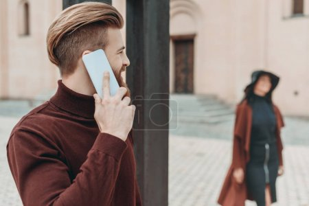 man talking by phone