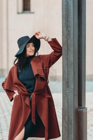 woman in stylish clothing