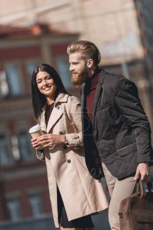 couple walking outdoors