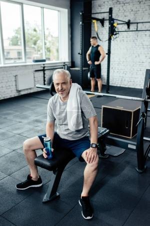 senior sportsman in sport center