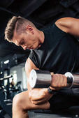 Muscular sportsman
