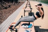 Woman doing abs exercise