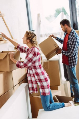 couple moving in new house