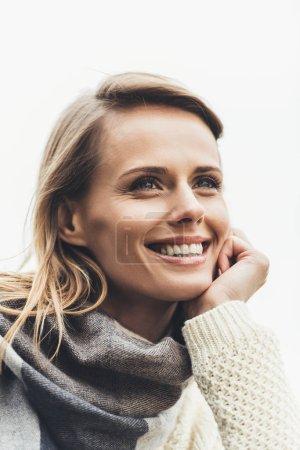 smiling stylish woman