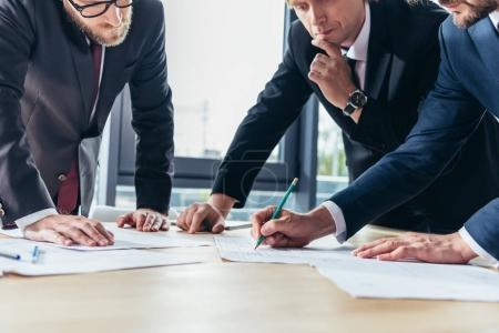 businessmen working in office