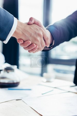 Photo for Cropped shot of professional businessman shaking hands - Royalty Free Image