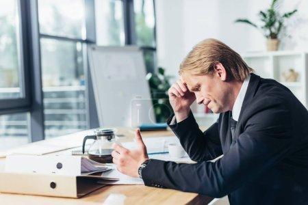 upset businessman