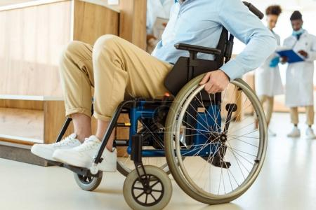 Disabled man at hospital