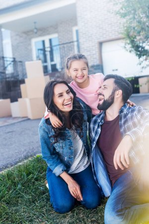 family having fun together