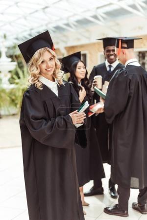 Student girl in graduation costume