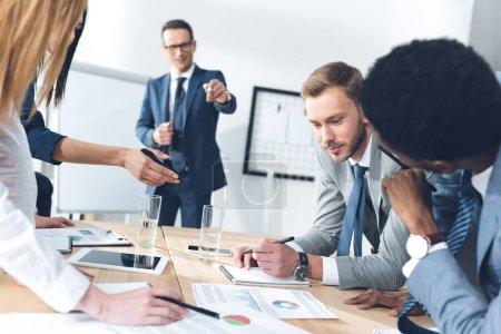 business parters having conversation