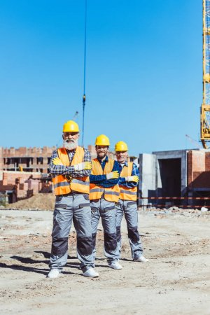 Construction workers at site