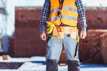 Construction worker in reflective vest