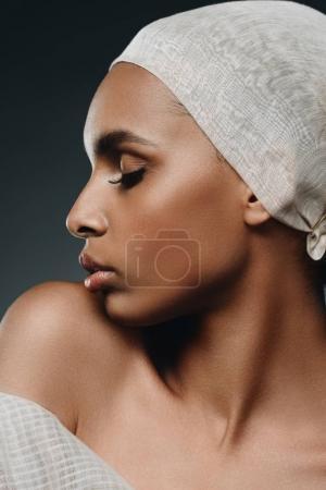 tender african american girl