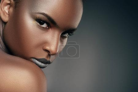 girl with silver makeup