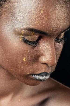 silver makeup for fashion shoot