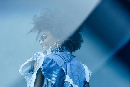 fashionable afro woman