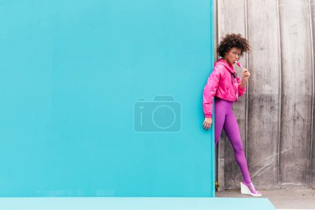 stylish girl with popsicle