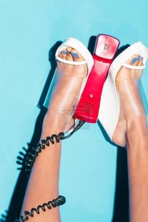 legs with telephone handset
