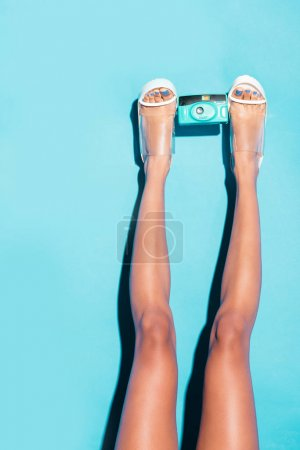 Legs with retro camera