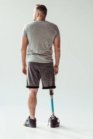 man with leg prosthesis