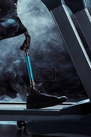 paralympic sportsman on treadmill