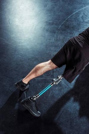 Paralympic sportsman in sportswear