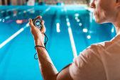 swim trainer with stopwatch
