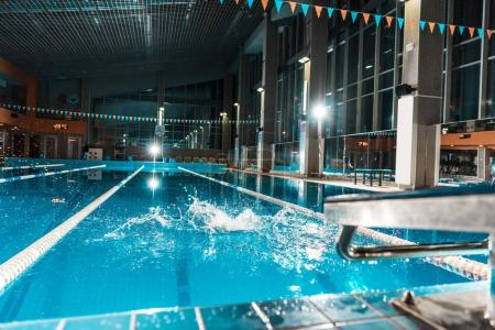 Splash in competition swimming pool