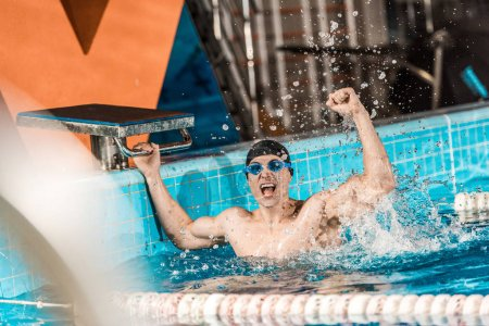 winner in competition swimming pool