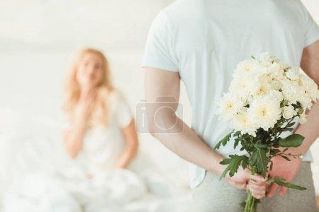 presenting flowers