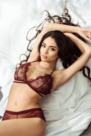 seductive girl in sexy lingerie