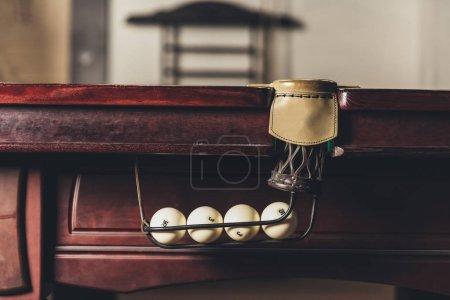 leather billiard pocket in gambling table