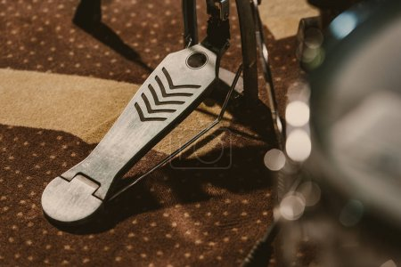 Photo for Close-up shot of drum pedal on carpet - Royalty Free Image
