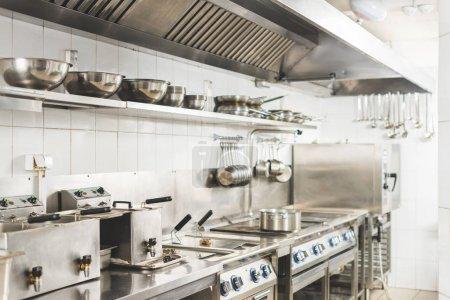 modern clean restaurant kitchen interior