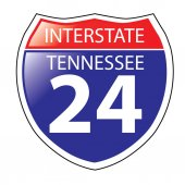 Interstate I-24 Tennessee Highway Sign